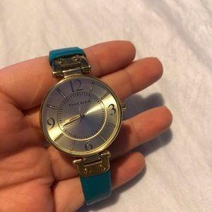 Blue gold watch